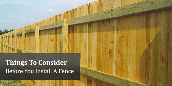 Border Business: Things To Consider Before You Install A Fence